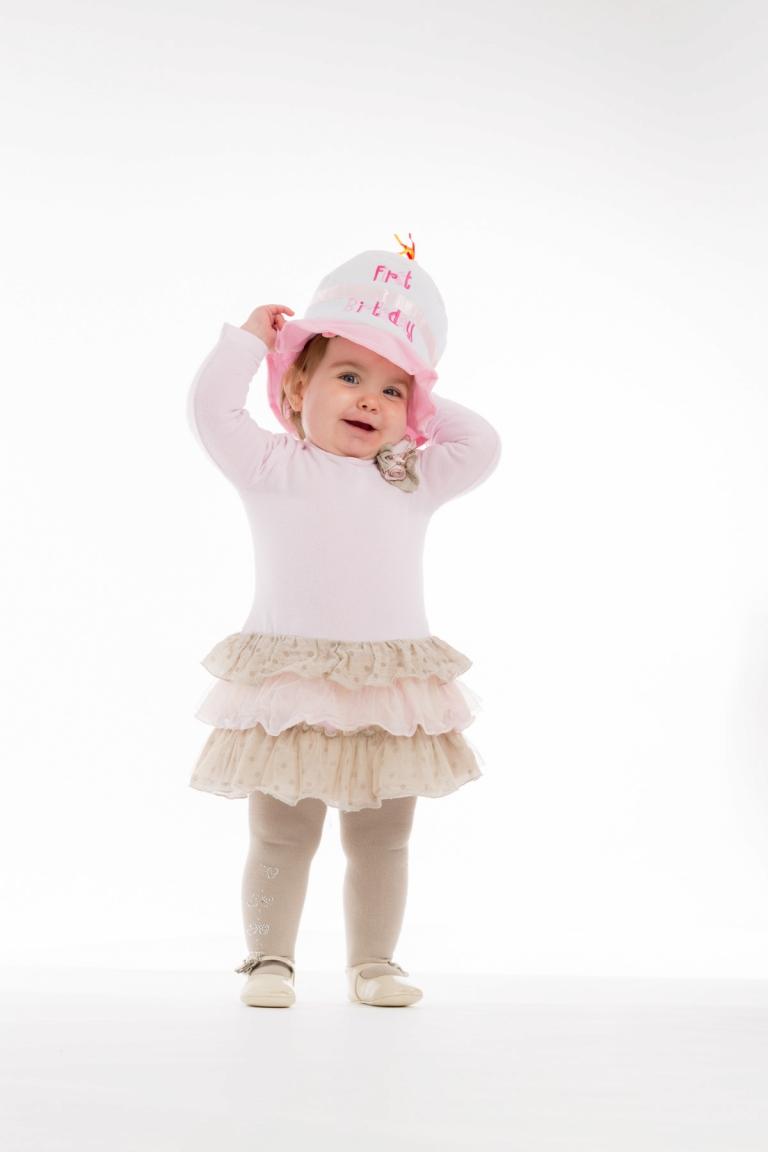 Marilou viert haar 1ste verjaardag met een shoot in de studio