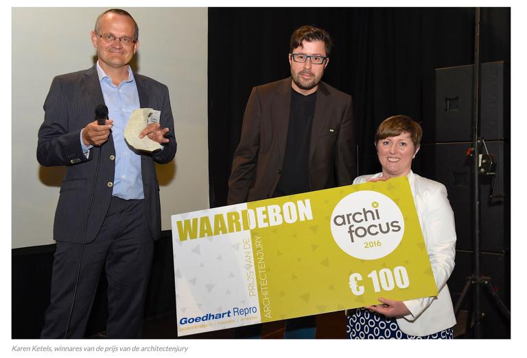 Karen Ketels, winnares prijs Architectenjury in Archifocus 2016 wedstrijd