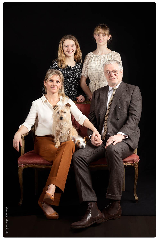 Familieportret Filip Peeters en An Miller